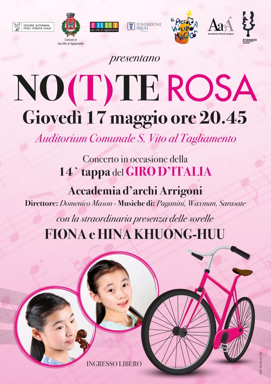 NO(T)TE ROSA – CONCERTO IN OCCASIONE DELLA 14.A TAPPA DEL GIRO D'ITALIA